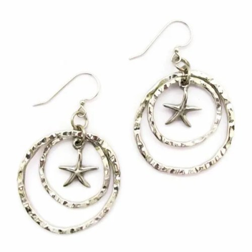 Sea Star Double Hoop Earrings