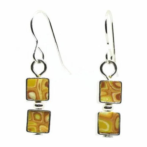 Mosaic Lemon Earrings