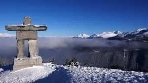 An Inukshuk made by indigenous people