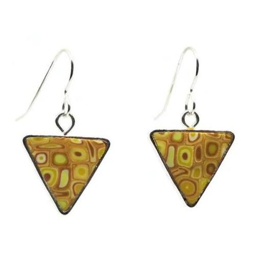 Yellow Mosaic Earrings