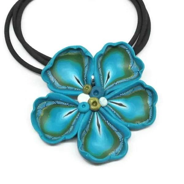 Frilled Turquoise Pendant