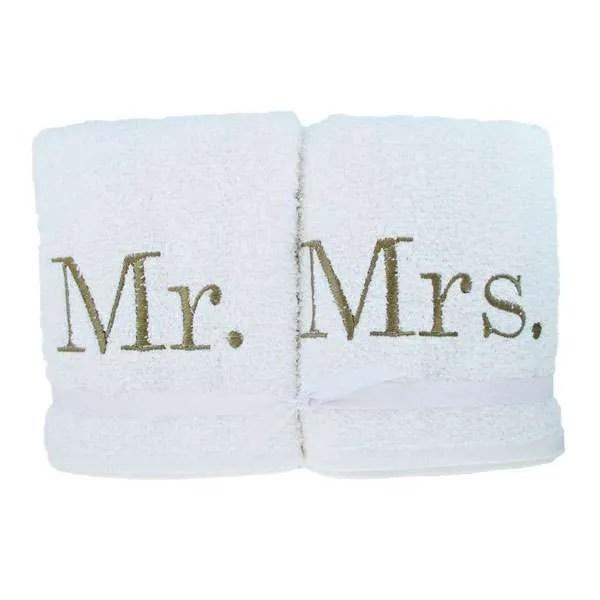 Hand Towel Set Mr and Mrs