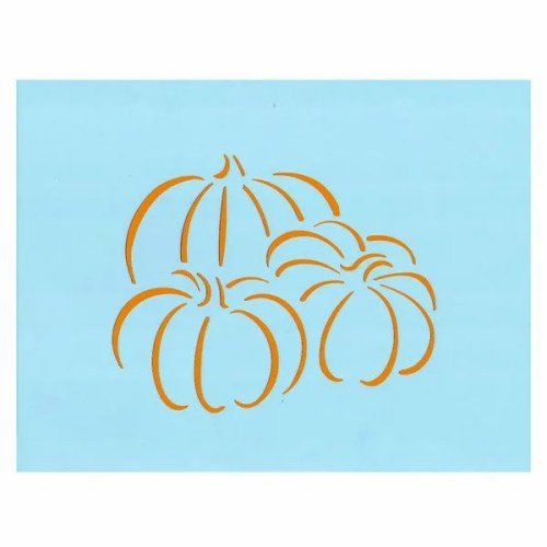pumpkin trio stencil