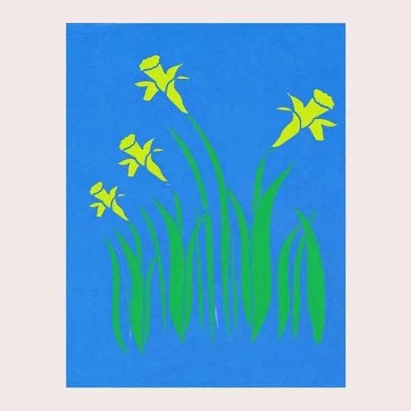 Daffodil Stencil