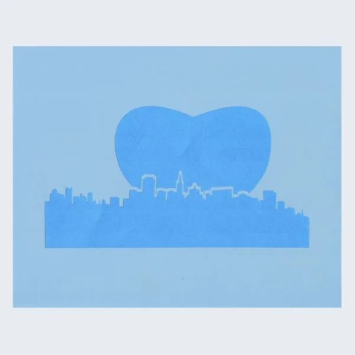 New York Skyline Stencil