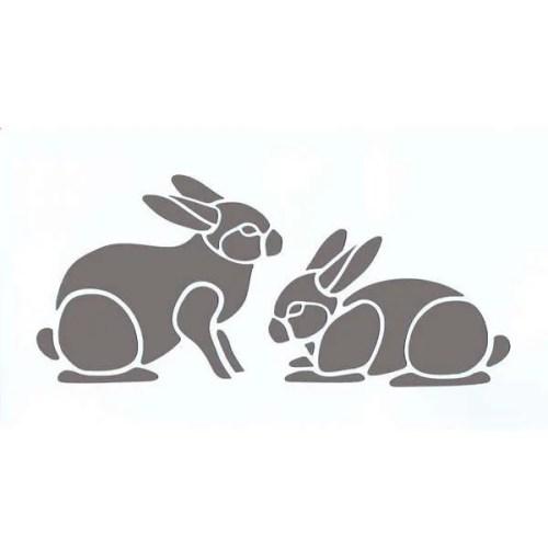 Bunny Rabbits Stencil