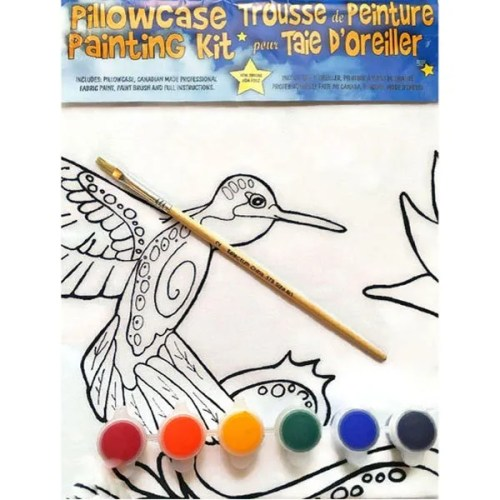 Hummingbird Pillowcase Painting Kit