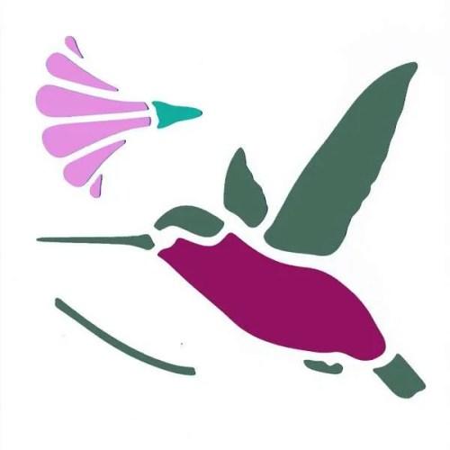 Hummingbird Stencil