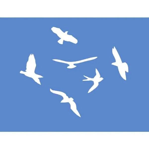 Circling Birds Stencil