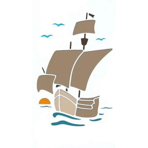 Galleon Stencil