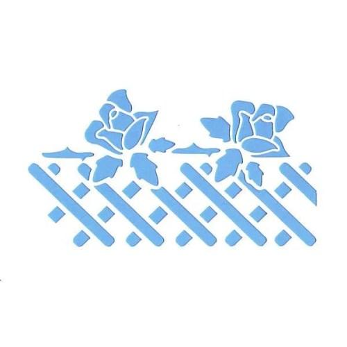 Rose Fence Stencil