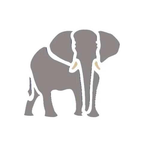 Small Elephant Stencil
