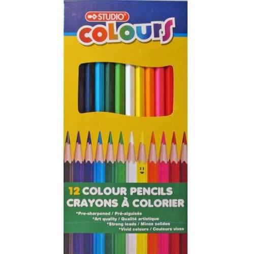 Studio Colours Coloured Pencils 12