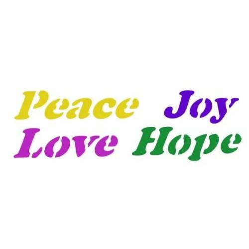 Peace Joy Love Hope Stencil