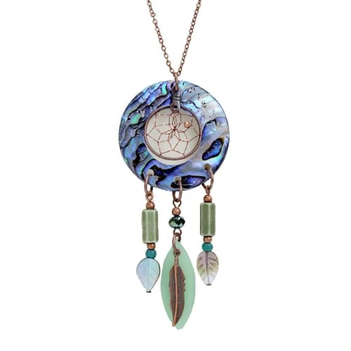 COPPER DREAM-CATCHER NECKLACE
