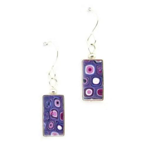 Violet Mosaic Earrings