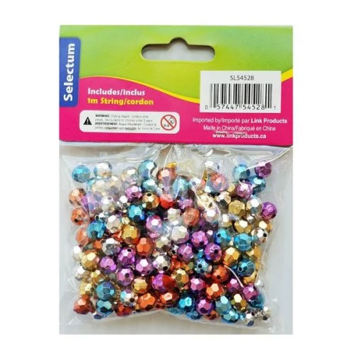 Coloured beads back