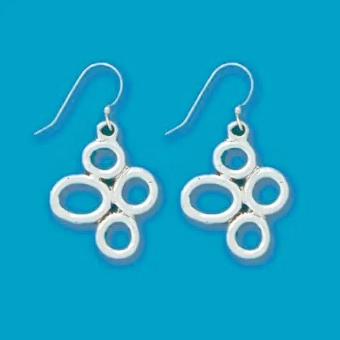 Four Circles Earrings
