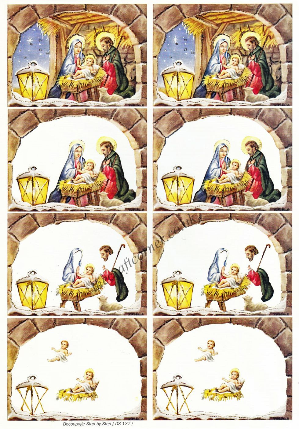 Christmas Nativity Designs 3d Decoupage Sheet