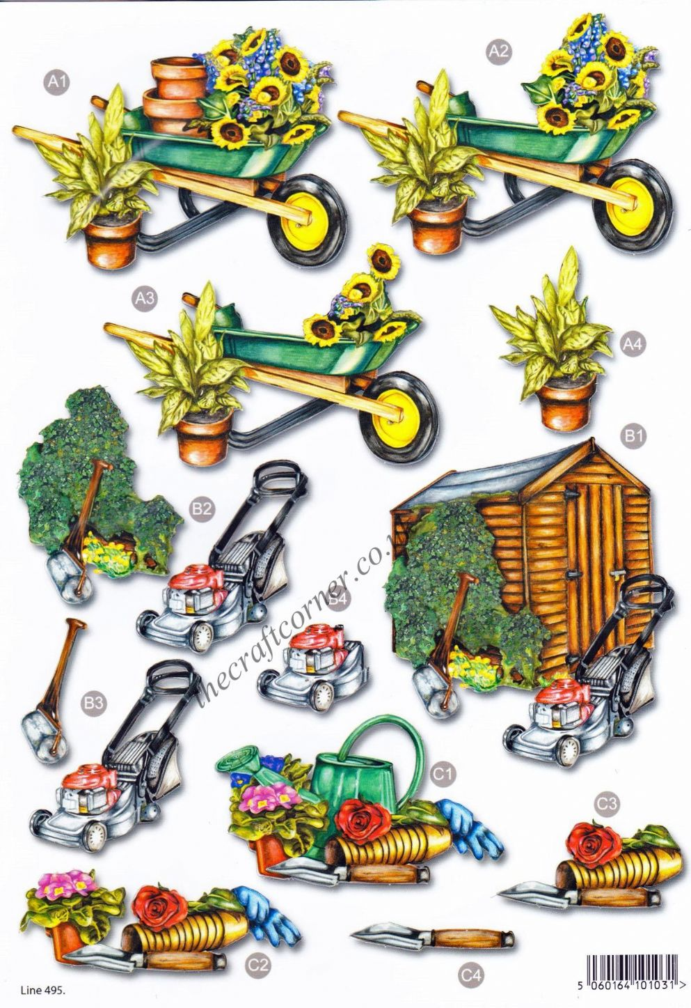 Garden Shed Die Cut 3d Decoupage Sheet