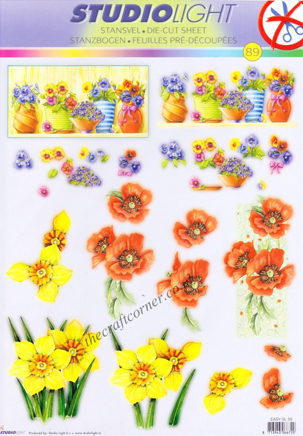 Spring Flowers Die Cut 3d Decoupage Sheet From Studio Light