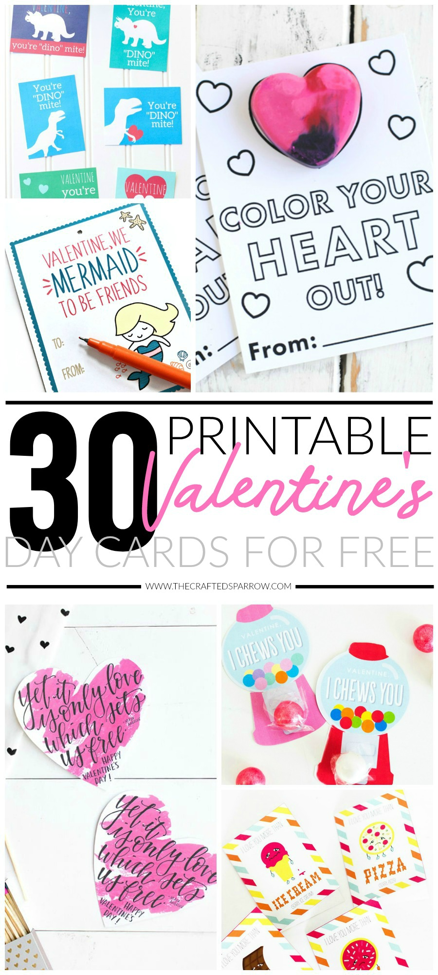 30 Valentines Day Printable Cards