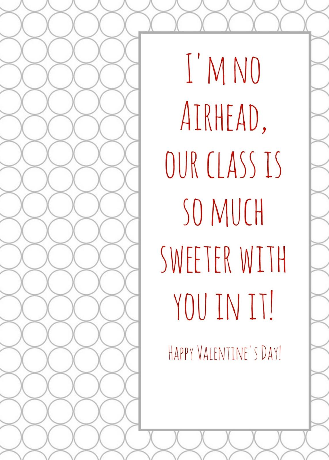 Airheads Printable Valentine S