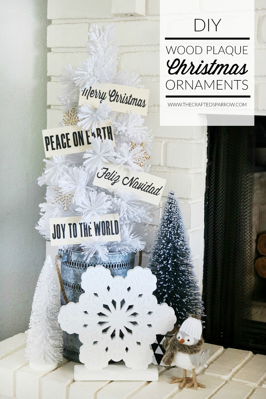 DIY Wood Plaque Christmas Ornaments