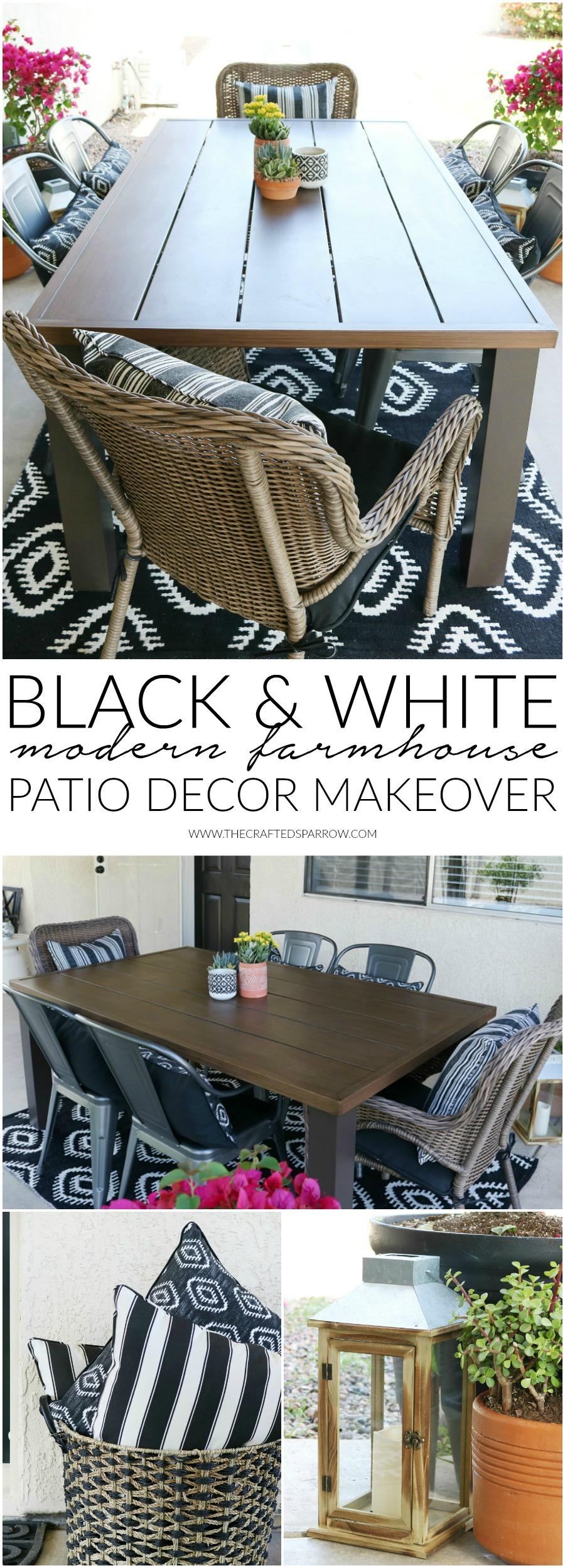 Black Amp White Modern Farmhouse Patio Decor