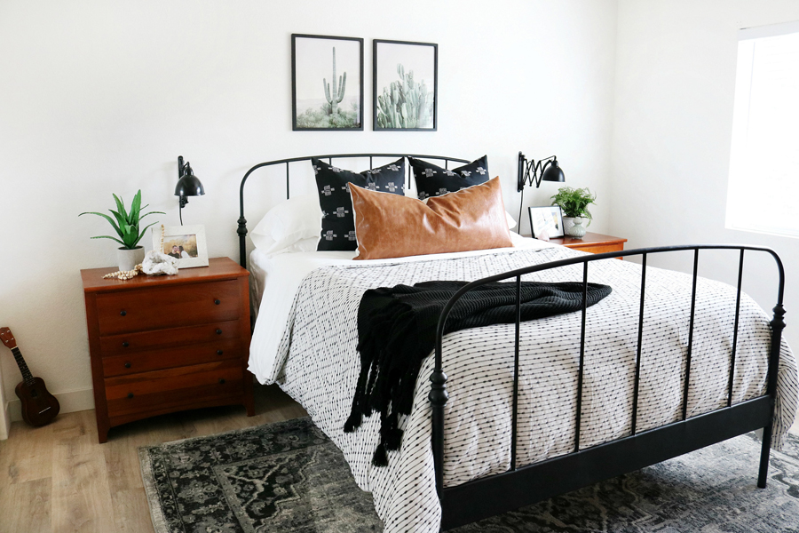 Black & White Boho Inspired Bedroom Makeover on Boho Bedroom  id=11151