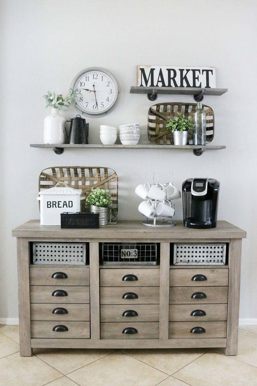 Modern Farmhouse Inspired Coffee Bar Station The Crafted
