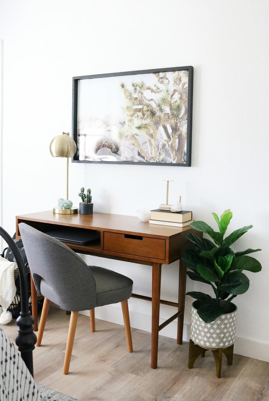 Mid-Century Boho Inspired Workspace on Modern Boho Room  id=57409