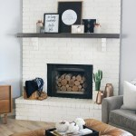 Black White Simple And Modern Fall Mantel Decor