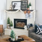 Black White Casual Boho Christmas Mantel Decor Ideas
