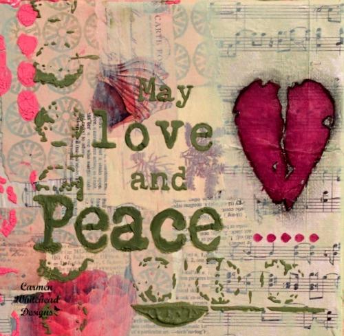 Love and Peace canvas #breastcancerawarenessmonth