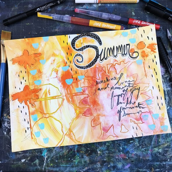 Final Art Journal Spread by Tori Weyers