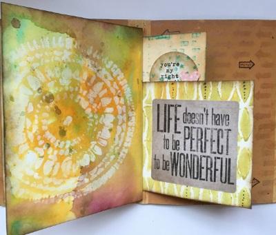 Kim Schofield, Stenciled, Album, Back Page, Stone Rings