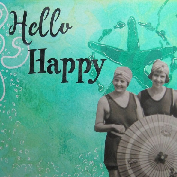 Hello Happy featured image from art journal page LEFKO