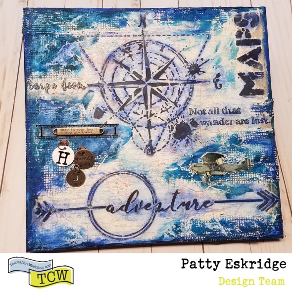 Patty Eskridge Adventure Mixed Media Canvas featured image