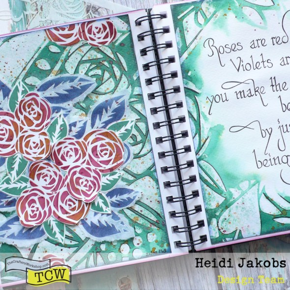 How to create a fun layered art journal page using different techniques