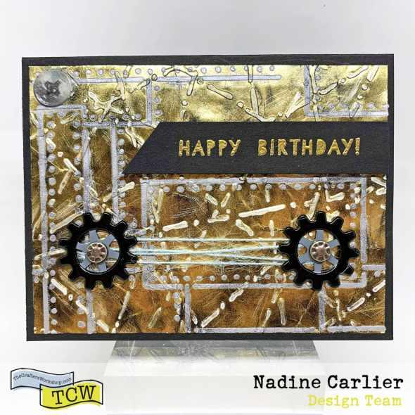 Masculine Birthday Card by Nadine Carlier