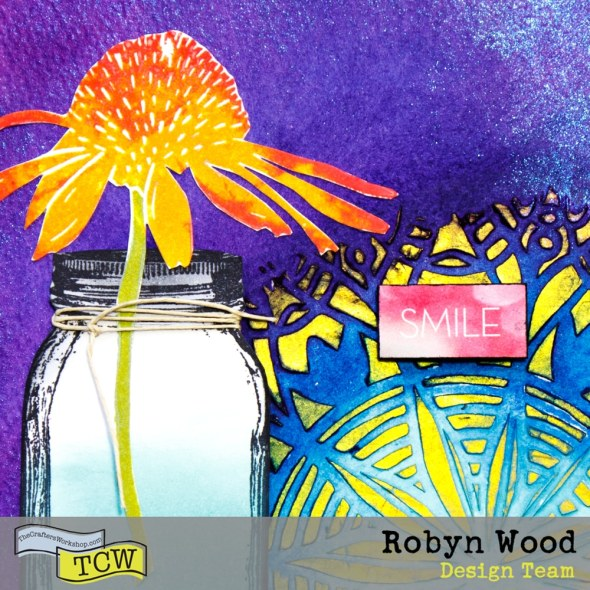 Create a shimmery, textured art journal page with Robyn Wood and The Crafter's Workshop stencils & mediums