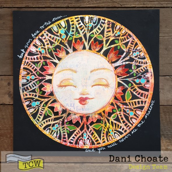 sunshine face illustration using TCW827 Spring Medallion