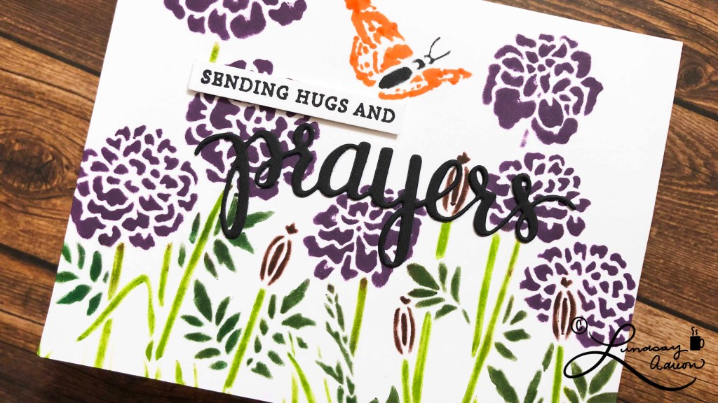 Making easy scenes with your stencils is another way to make easy and simple handmade sympathy cards. They are nice and flat so they are easy to mail.