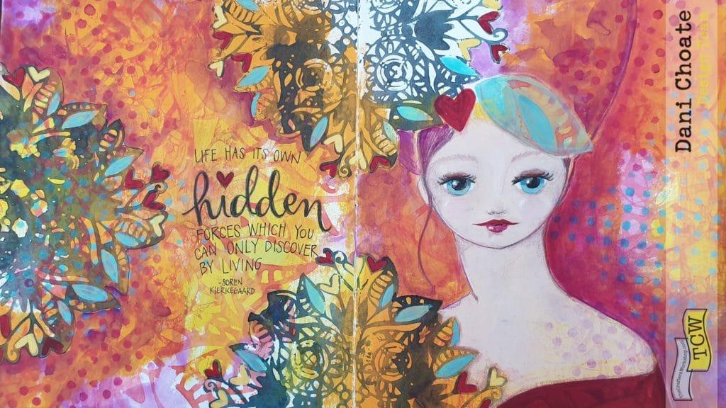 Full art journal page - Hidden