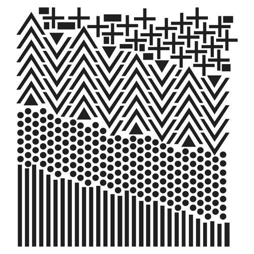 TCW886 Shape Ladscape stencil