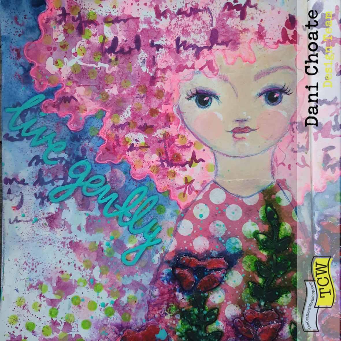 TCW541 - Believe script mixed media art journal page