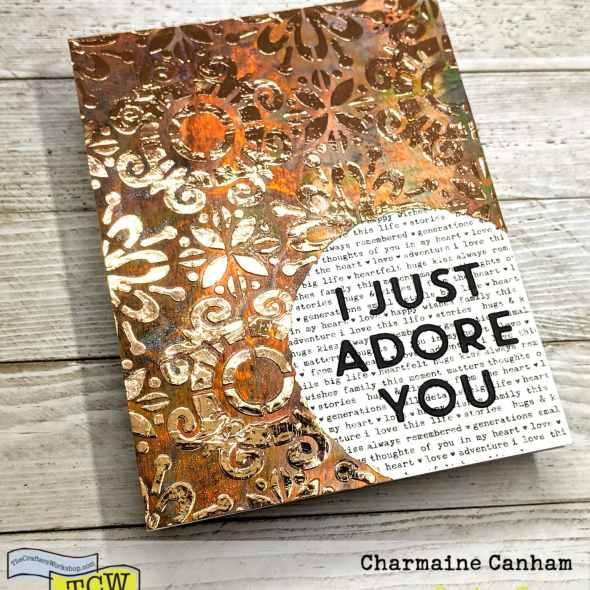 I just adore you card made with a stencil and foil