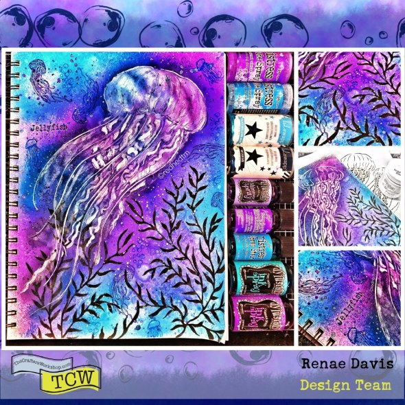 Jelly Jellyfish Art Journal Page by Renae Davis