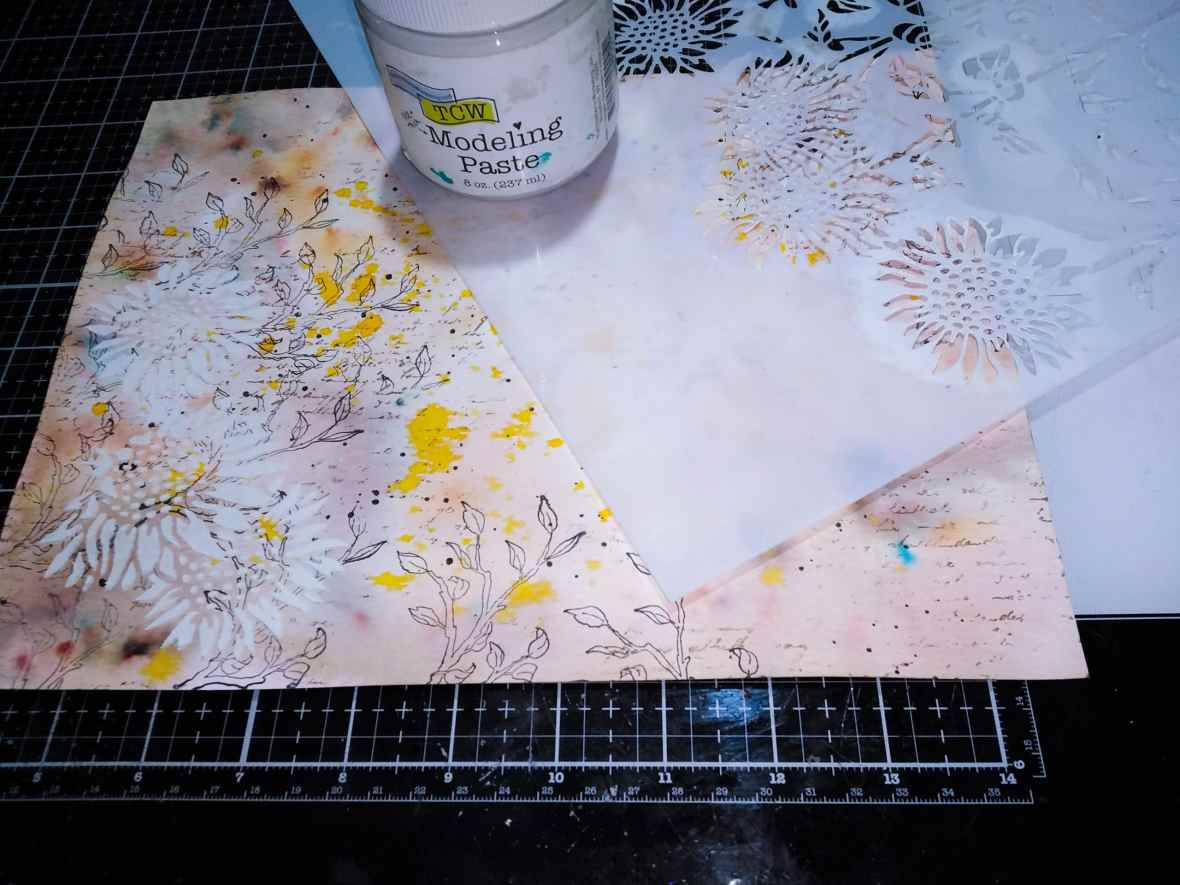 Stenciling with Modeling paste